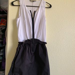Little black and white dress, perfect for summer